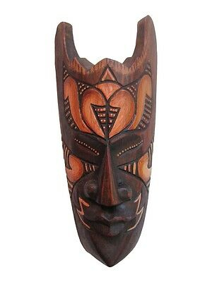 """Hand Carved African Tribal Wooden Mask, 8"""" The Beacon, #FET-SMM-P"""