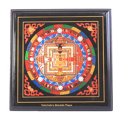 Feng Shui  Kalachakra Mandala Plaque with Mantra Protect & Against Harm