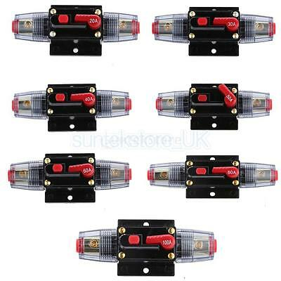 20A-300 Amp Manual Reset Circuit Breaker Car Auto Boat Stereo Audio Fuse Holder