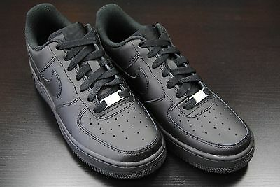 [314192 009] Kid's Gs New Nike Air Force 1 Low All Black Grade School Youth Bk2