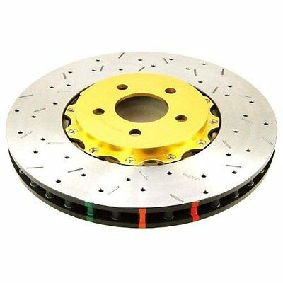 DBA (52604BLKXS) 5000 Series 2-Piece Drilled and Slotted Disc Brake Rotor with B