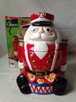 Gibson Nutcracker Soldier Cookie Jar for Christmas