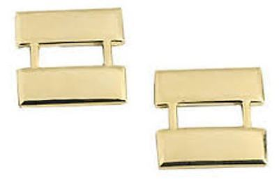 Metal Rank Bars, Captain Or Lieutenant, Police Or Fire