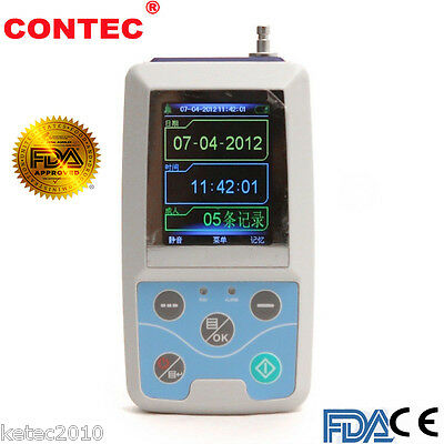 CONTEC ABPM50 24Hrs NIBP Holter Ambulatory Digital Blood Pressure Monitor 3Cuffs