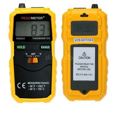 PM6501 -50~750℃ K Type Digital LCD Thermometer Temperature Meter Tester Probe