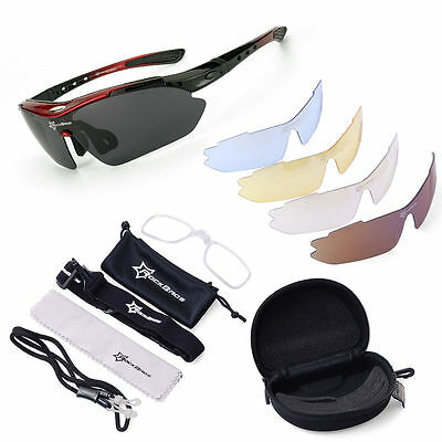 ROCKBROS Polarized Sunglasses Mountain Bike Sun Glasses Sport MTB Goggles 5 Lens
