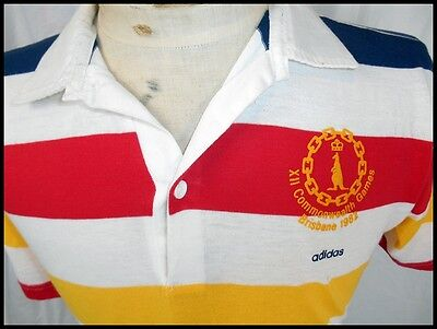 Vintage Adidas Poly/Cotton 1982 Brisbane Commonwealth Games Rugby Shirt 16 M