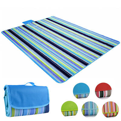 Waterproof Camping Picnic Mat Outdoor Strap Beach Travel Rug Blanket Folding Pad