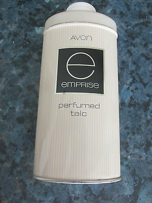 Vintage Avon Emprise Talcum Body Powder Talc Large 100G In Tin