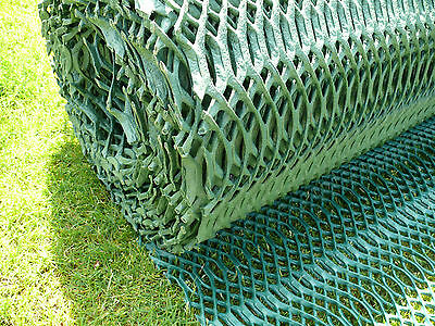 Grass Protection Mesh Lawn Mat Car Park Reinforcement 1x10m Car Parking 14mm