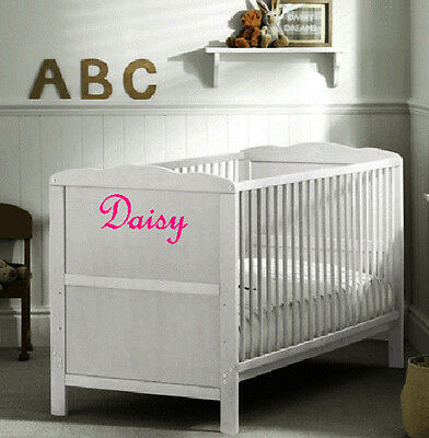 Baby Cot Crib personalised Sticker / decal - Bedroom Nursery