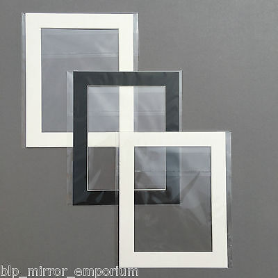 10x8in picture/photo mounts with 8x6in aperture - SOLD SINGULARLY - bagged