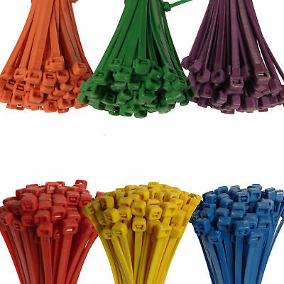 Strong Coloured Cable Ties Zip Tie Tie Wrap Pick Your Colour