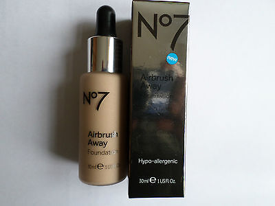 No7 AIRBRUSH AWAY FOUNDATION 30ml SHADE : DEEPLY BEIGE NEW