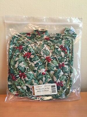 Longaberger American Holly Pot Holder 2 Piece Set- New in Package