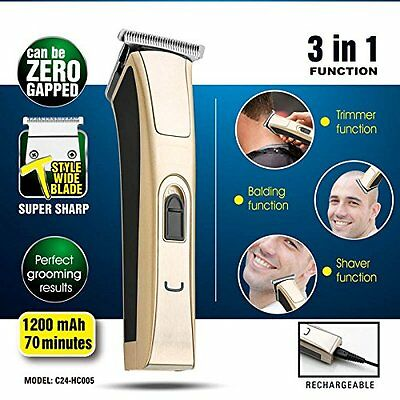 Proffessional 3in1 Function Hair Clipper High Cut Power&Speed Stainless T  Blade