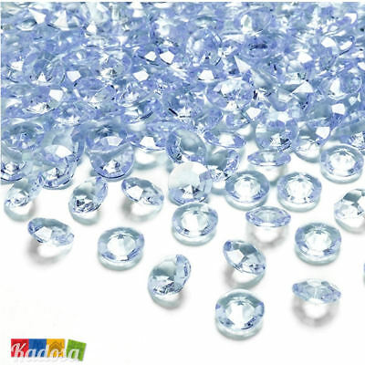 100 pz Diamanti Decorativi 12mm AZZURRI - Diamantini Centrotavola Party Elegante