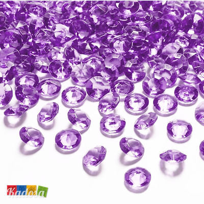 100 Diamanti Decorativi 12mm VIOLA Diamantini Centrotavola Party Elegante Violet