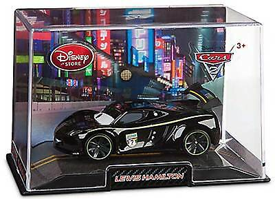 Disney Store Pixar Cars 2 British Lewis Hamilton Die Cast Car Collector's Case