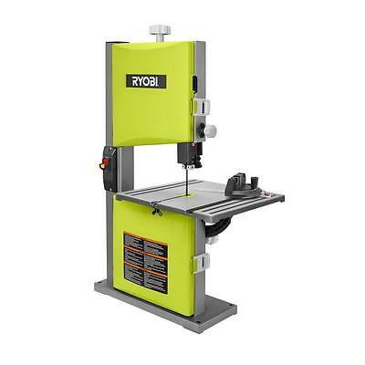 Ryobi 2.5 Amp 9 in. Band Saw in Green Woodworking Bench Cutting Power Tool