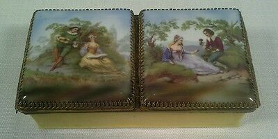 Antique Scenic Painted French Porcelain Box