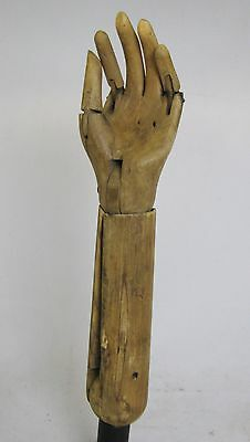 Antique Wooden Articulating Child's Hand Mannequin Pose-able Folk Art