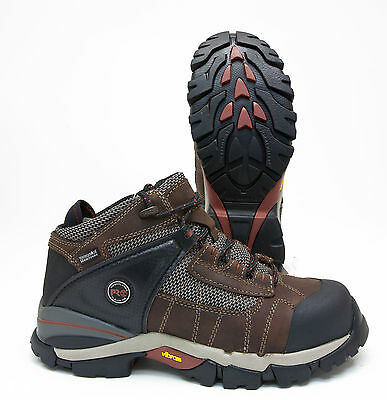 db291967fa7 TIMBERLAND PRO HYPERION Brown Leather Waterproof Safety Toe Work Boot  TB91696214