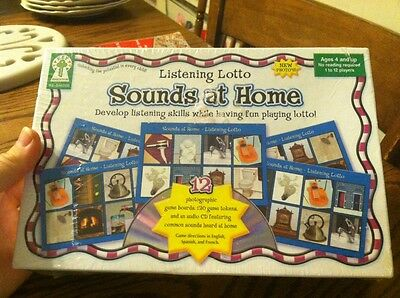 NEW Sounds At Home Listening Lotto Game for Ages 4 and Up