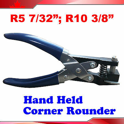 "Manual 2 Kinds R5:7/32"" R10:3/8"" Hand Held Card Corner Rounder Cutter Pouch"