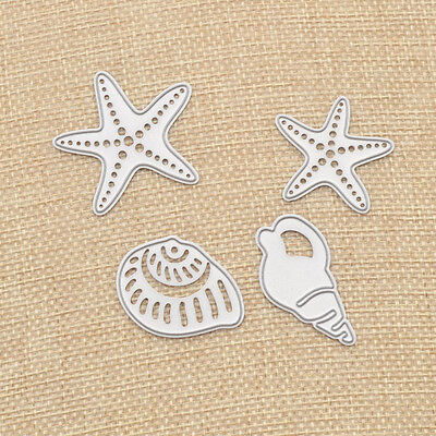 Starfish Conch Scrapbooking DIY Cutting Dies Mould Paper Hollow Out Template