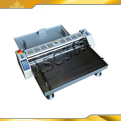 "110V 26"" 660mm Creaser Scorer Perforator Paper Creasing Machine Wooden Package"