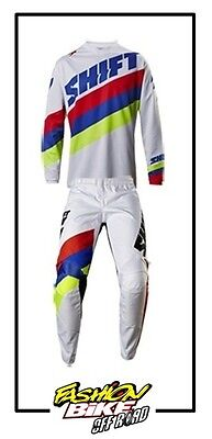 Abbigliamento Cross,enduro Completo Shift White Tarmac White 2017 Tg 34/l