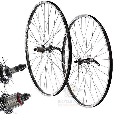 Replacement Wheels 700c 29er Hybrid Alloy Double Wall Quick Release Hubs Black