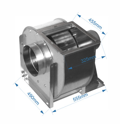Centrifugal industrial duct extractor fan, blower, 1420 RPM, 8000 m3/h; 400 V