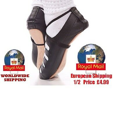 New Irish Inishfree Dancing Pomps Soft Shoes Sizes More Reel Pumps Ghillie