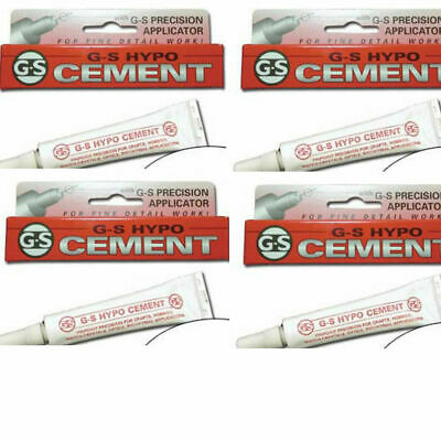 Pack of 4 GS Hypo Glue in BOX Jewellery Watches Fishing *New Stock* Needle Tip