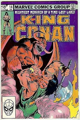 King Conan #14 (48 pgs Marvel 1983, vf+ 8.5) Moench & Silvestri