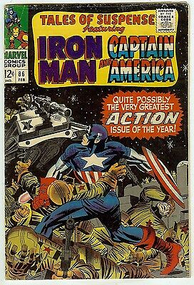Tales of Suspense #86 (Marvel 1967, fn/vf 7.0) Kirby & Colan art - 40% off guide