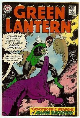 Green Lantern #57 (DC 1967; fn/vf 7.0) price guide value: $43.50 (£29.00)