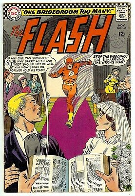 The Flash #165 (1966; fn-vf 7.0) Wedding issue - 50% off price guide value