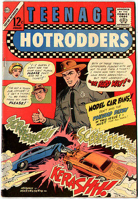 Teenage Hotrodders #16 (Charlton 1966,  vf 8.0) guide value: $17.00 (£12.50)