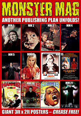 Monster Mag posters - 3ft x 2ft each and totally crease free!