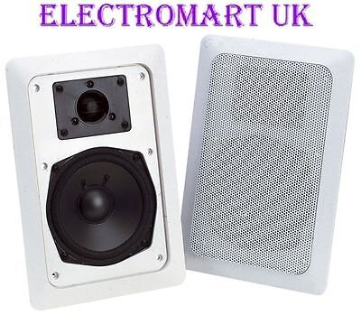 2 Way Stereo Flush In Wall Ceiling Hi-Fi Speakers 60W X 2