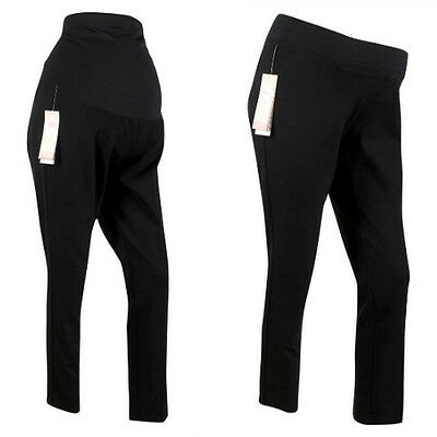 Maternity Trousers Black Ankle Length Over The Bump & Under The Bump Sizes 6-22