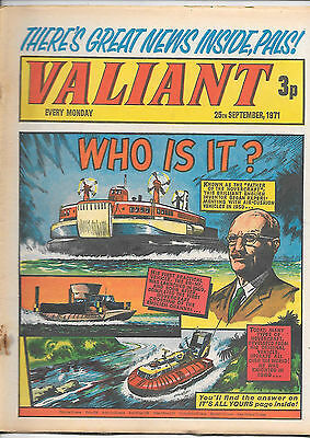 Valiant 25th Sept 1971 (high grade) Steel Claw, Kelly's Eye, Ghostly Guardian