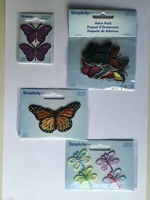 Embroidered Butterfly & Dragonfly Iron/Sew On Appliqué Patch Motif Choose Colour