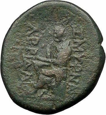 SMYRNA in IONIA 2-1CenBC Apollo POET HOMER of ODYSSEY ILIAD Greek Coin  i55166