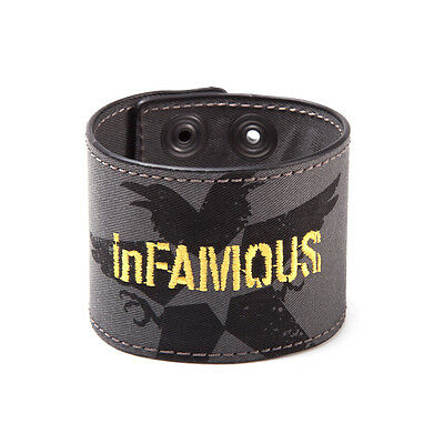 Official Infamous Second Son Crow Symbol Popper Cuff Bracelet (Brand New)