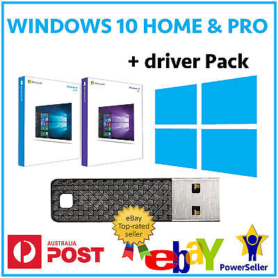 Windows 10 Home Pro 32Bit 64Bit Usb Installer Recovery Media Driver Pack Repair