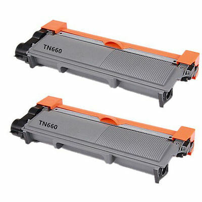 2PK Toners for Brother TN660 DCP-L2520 TN630 DCP-L2540 HL-L2300 HL-L2305 HLL2320